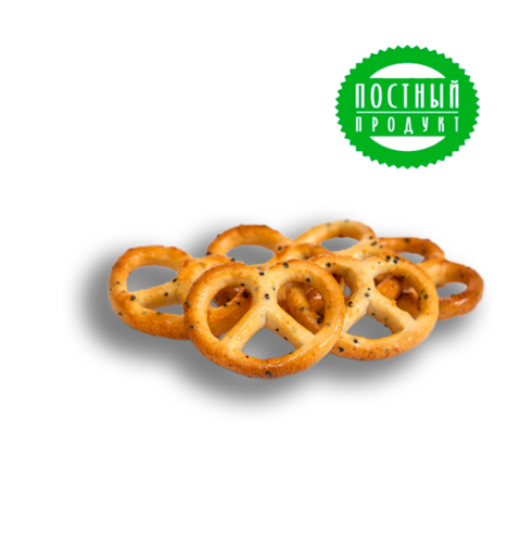 "Pretzels ""Posolskie with poppy seeds"" weighing"